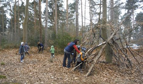 Den making for Woodcraft